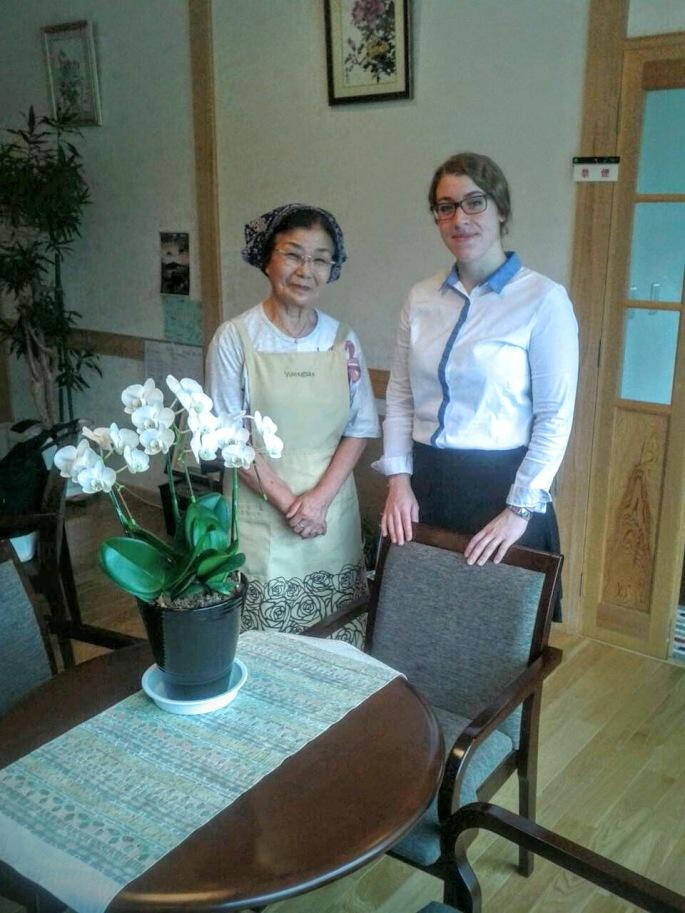 Frau Yoshida leitet die Pension Fukuda in Rikuzentakata